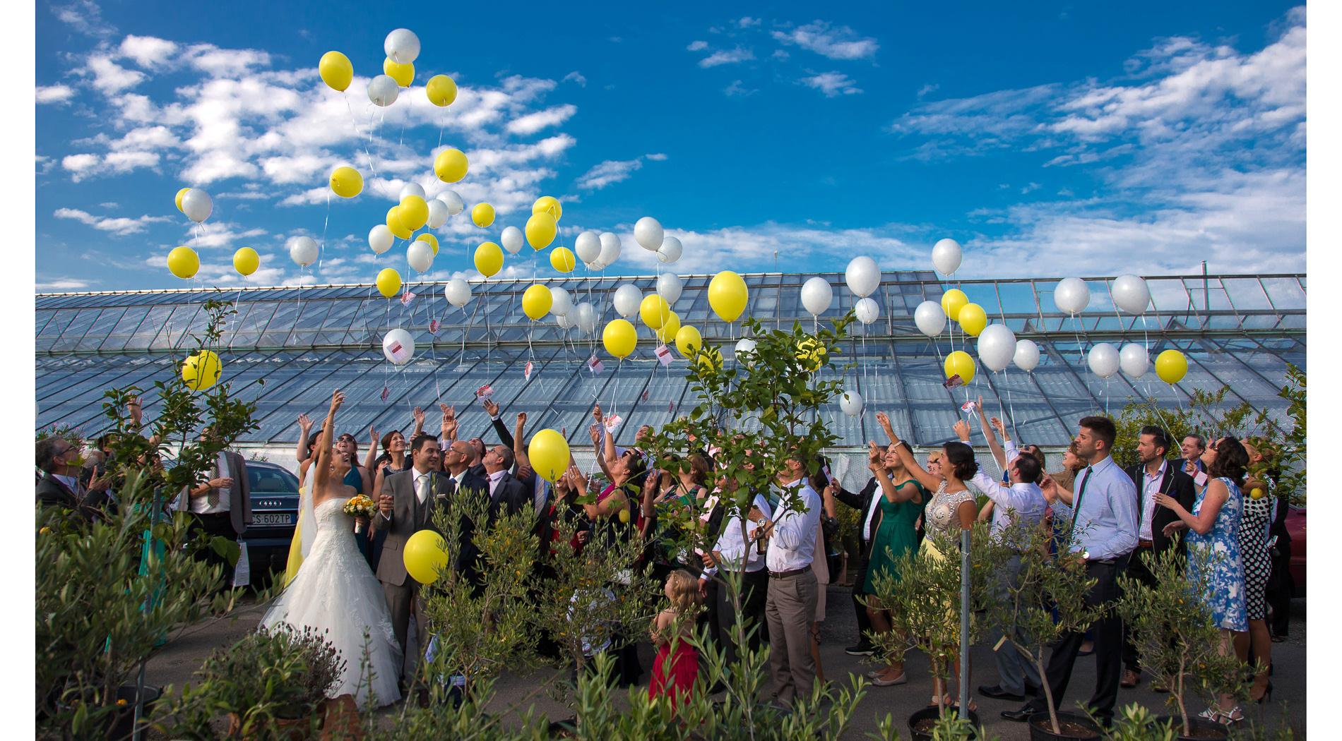 Hochzeit Ballone steigen lassen