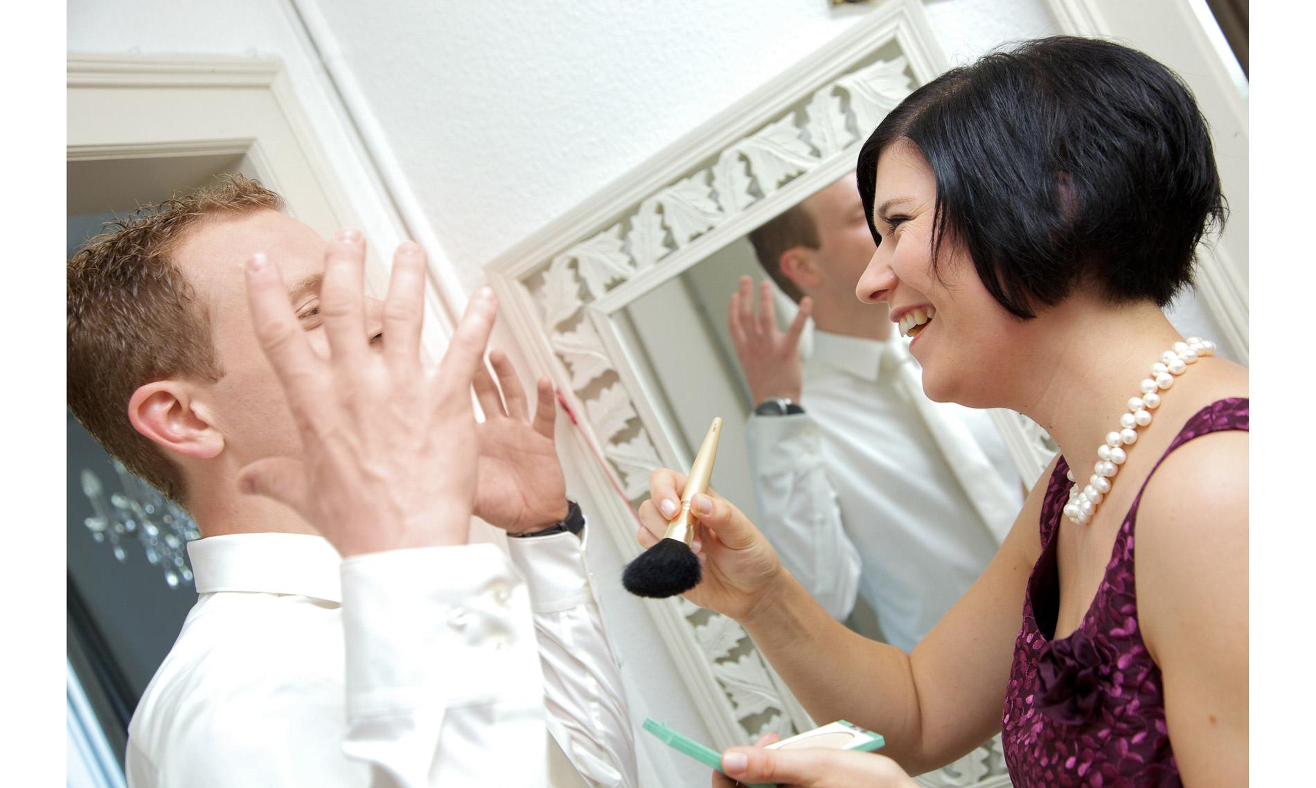 Makeup Hochzeit Getting ready