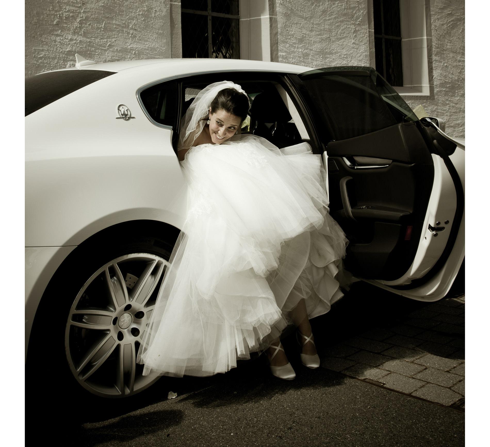 Auto Hochzeit Braut